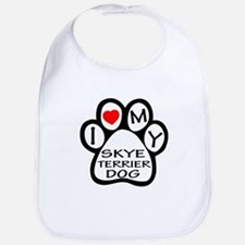 I Love My Skye Terrier Dog Bib