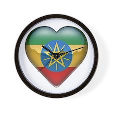 Ethiopia Heart Wall Clock