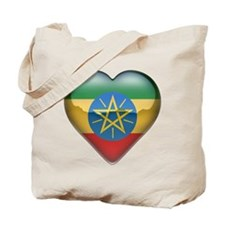 Ethiopia Heart Tote Bag