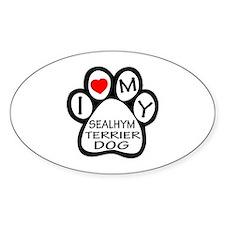 I Love My Sealyham Terrier Dog Decal