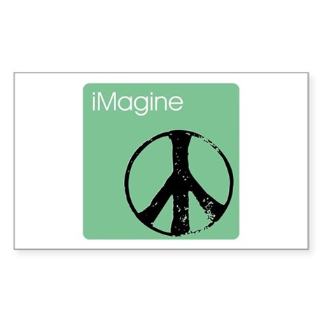 iMagine green Rectangle Sticker