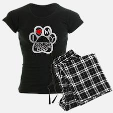 I Love My Scottish Deerhound Pajamas