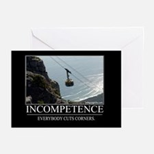Incompetence Greeting Cards (Pk of 10)