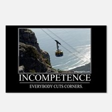 Incompetence Postcards (Package of 8)