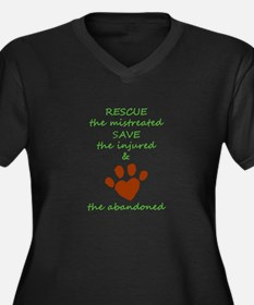 RESCUE the mistreated SAVE the i Plus Size T-Shirt