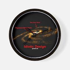 Idiotic Design Wall Clock