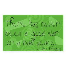 Good War, Bad Peace Rectangle Decal