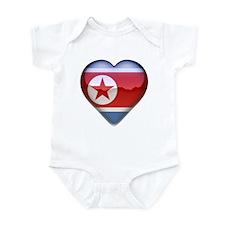 DPR Korea Heart Infant Bodysuit