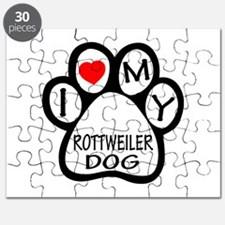 I Love My Rottweiler Dog Puzzle