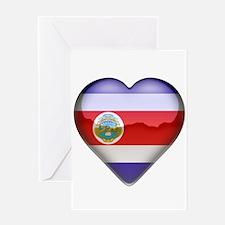 Costa Rica Heart Greeting Card
