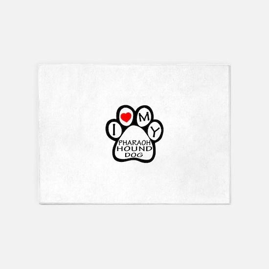 I Love My Pharaoh Hound Dog 5'x7'Area Rug
