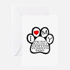 I Love My Petit Basset Griffon Vende Greeting Card