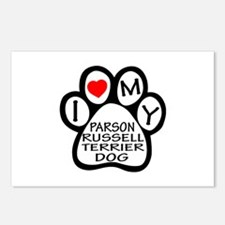 I Love My Parson Russell Postcards (Package of 8)