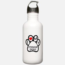 I Love My Otterhound D Sports Water Bottle