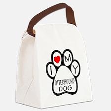 I Love My Otterhound Dog Canvas Lunch Bag