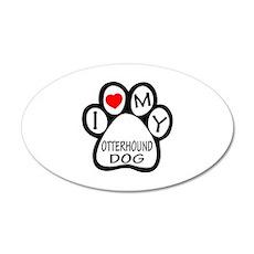 I Love My Otterhound Dog Wall Decal