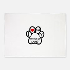 I Love My Otterhound Dog 5'x7'Area Rug