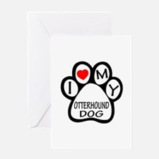 I Love My Otterhound Dog Greeting Card