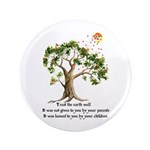 "Kenyan Nature Proverb 3.5"" Button (100 pack)"