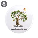 "Kenyan Nature Proverb 3.5"" Button (10 pack)"