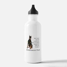 Doberman Dad Water Bottle
