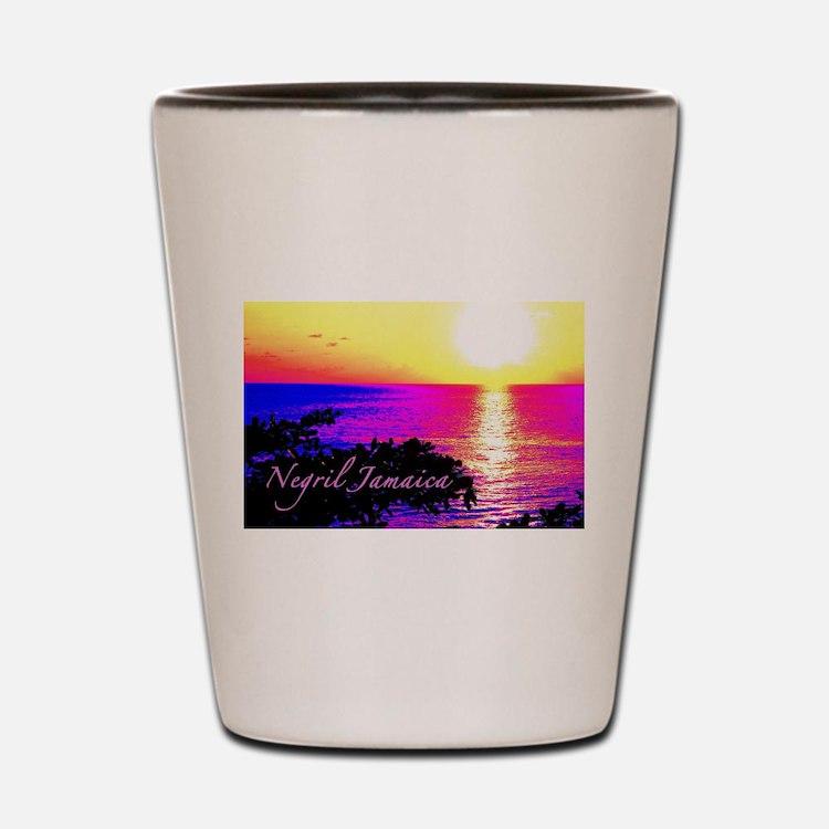 Negril, Jamaica Shot Glass