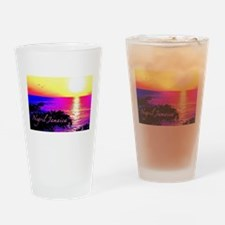 Negril, Jamaica Drinking Glass