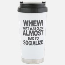 Whew That Was Close Alm Stainless Steel Travel Mug