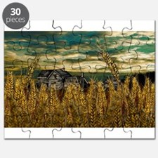Farm House in Wheat Field Puzzle