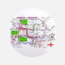 "Tourist Map of London, Englan 3.5"" Button"