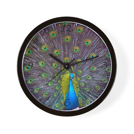Peacock Full Color Wall Clock