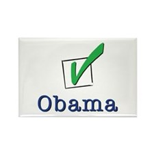 Obama Check Light Rectangle Magnet