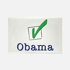 Obama Check Light Rectangle Magnet