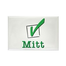 Romney Check Mitt Light Rectangle Magnet