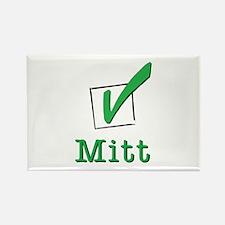 Romney Check Mitt Light Rectangle Magnet
