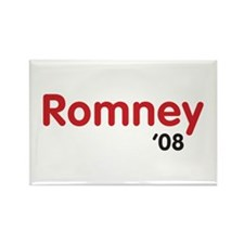 Romney 08 Light Rectangle Magnet