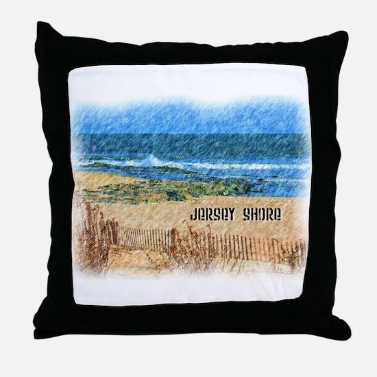 Cute Shore Throw Pillow