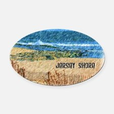 Unique New jersey Oval Car Magnet