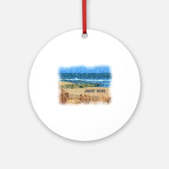 Cute Jersey shore Round Ornament