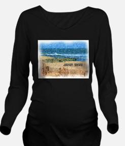Jersey Shore NJ Beac Long Sleeve Maternity T-Shirt