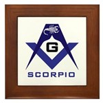 Masonic Scorpio Framed Tile