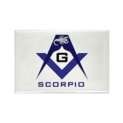 Masonic Scorpio Rectangle Magnet