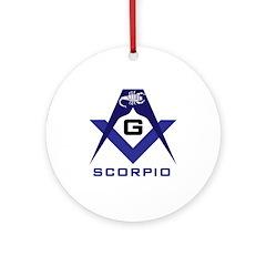 Masonic Scorpio Ornament (Round)