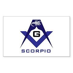 Masonic Scorpio Rectangle Decal