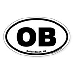 Ortley Beach, NJ OB Euro Style Oval Sticker