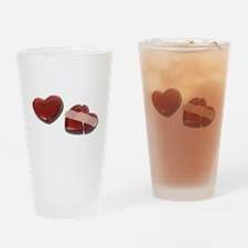 Cute Heart with bandaid Drinking Glass