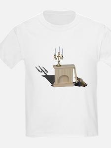 chandelier fireplace logs hatchet T-Shirt