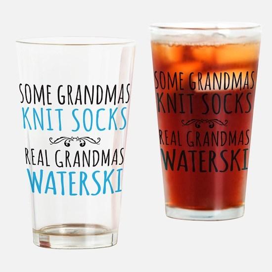 Cute Waterski Drinking Glass