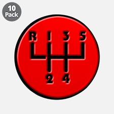"Stick shift 3.5"" Button (10 pack)"