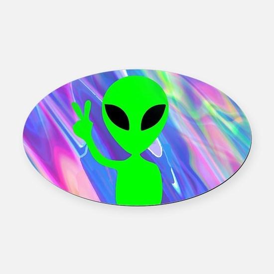 Aliens Oval Car Magnet